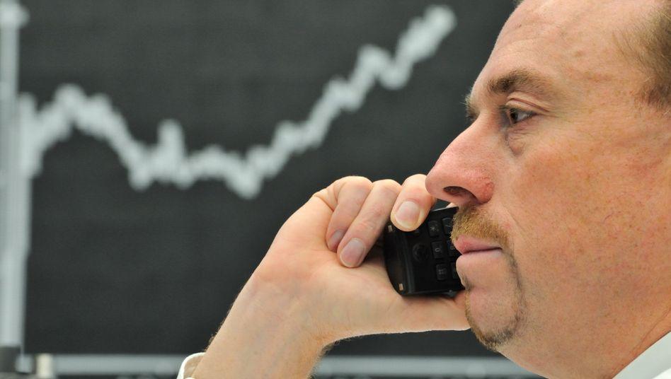Börsianer in Frankfurt: Dem Dax ging am Montag die Puste aus