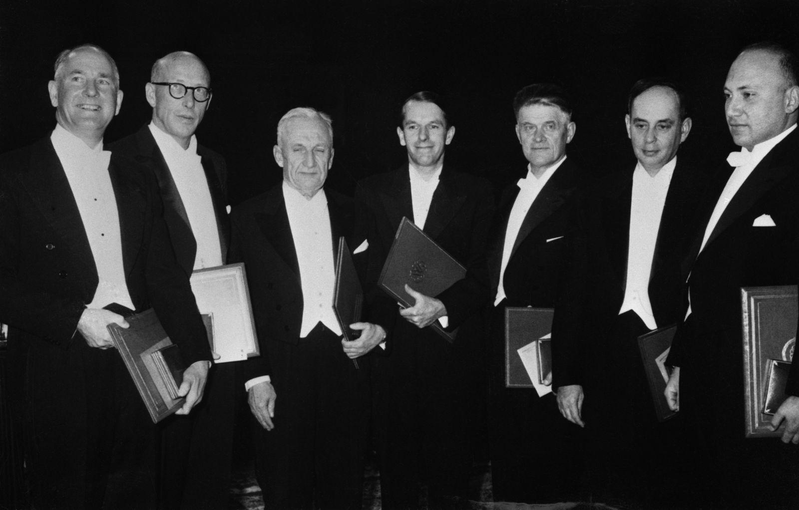 NICHT MEHR VERWENDEN! - Nobelpreis / Nobelpreisträger der Physik / Beadle / Tatum / Tamm / Sanger / Cherenkov / Frank / Lederberg