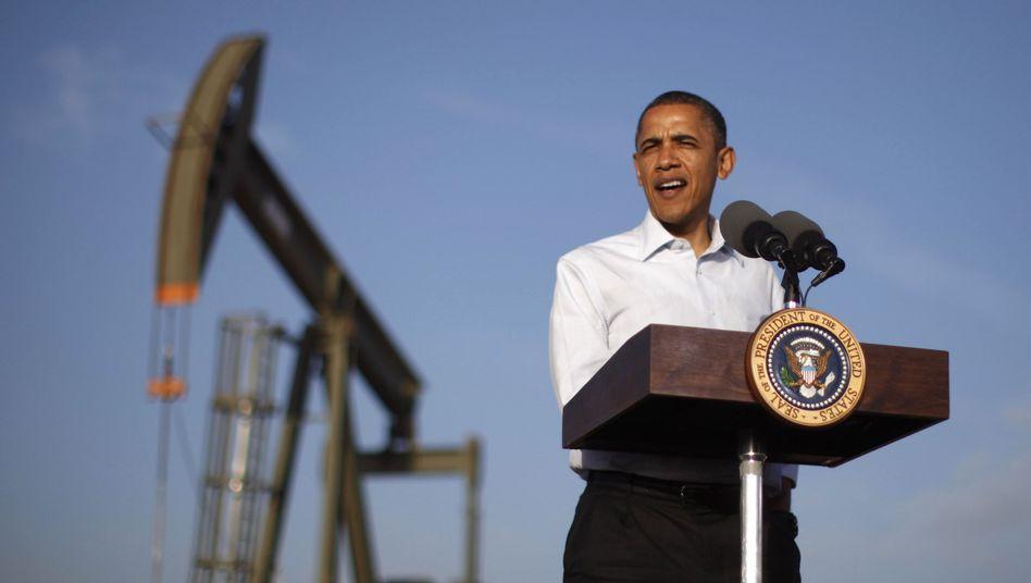 Sein Land hängt noch immer am Öl-Tropf: US-Präsident Barack Obama