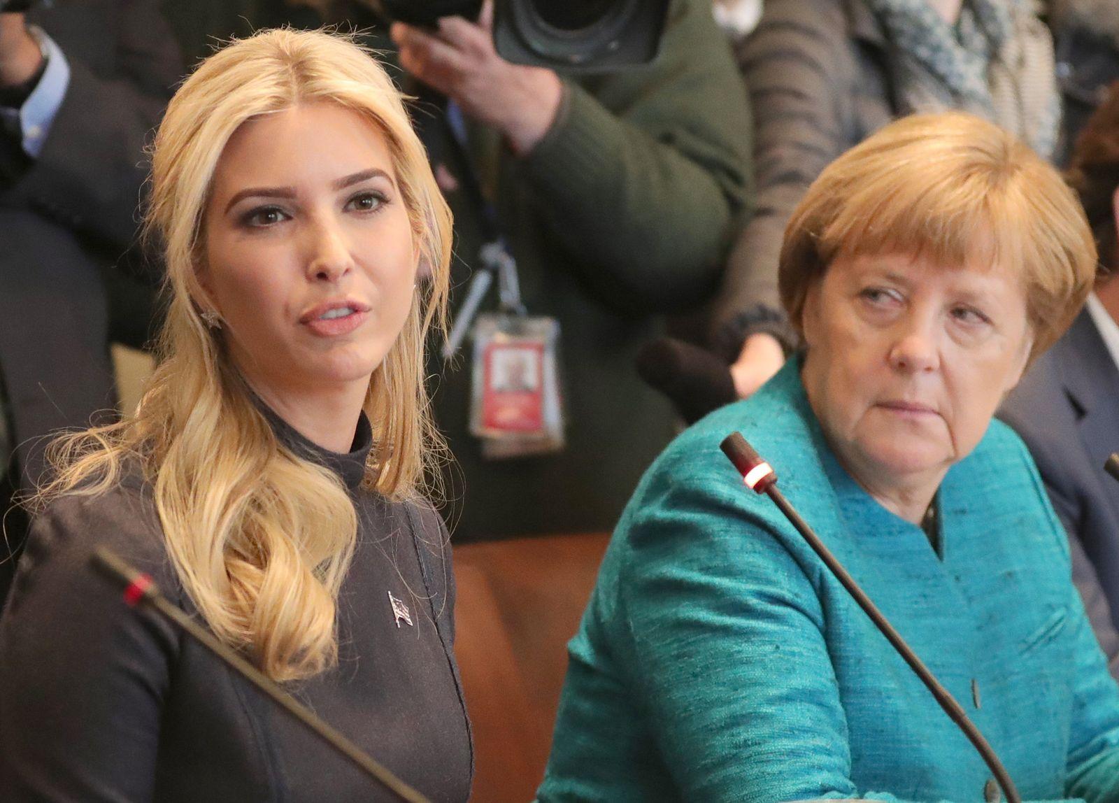 Merkel und Ivanka trump