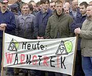 Steht eine neue Streikrunde der IG-Metall bevor? (Aufnahme aus dem März 2000 in Leipzig)