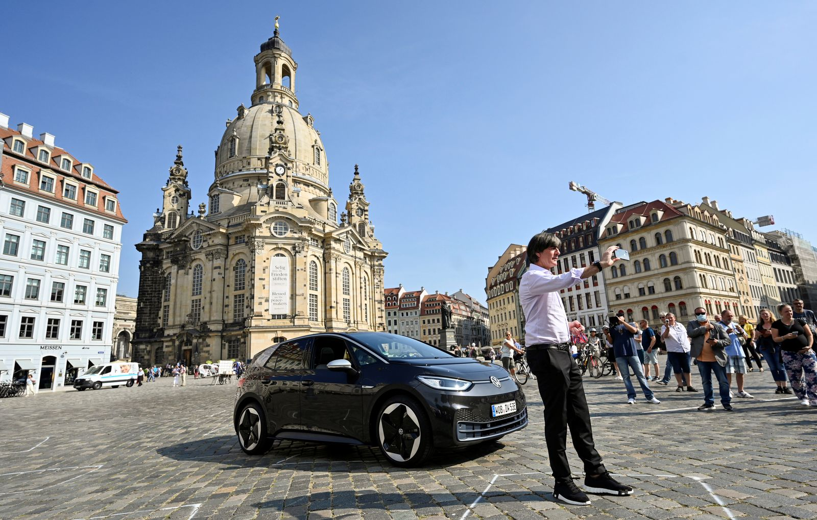 Volkswagen and brand ambassador Jogi Loew kick off the production of all-electric model ID.3