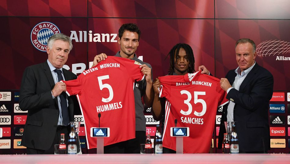 Bayern-Neuzugänge Hummels, Sanches: Mit 70 Millionen Euro vergleichsweise bescheiden