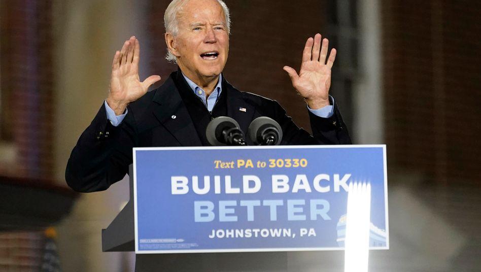 """Krisenpolitik als Chance zur Transformation: Joe Biden mit seinem Motto """"Build back better""""."""