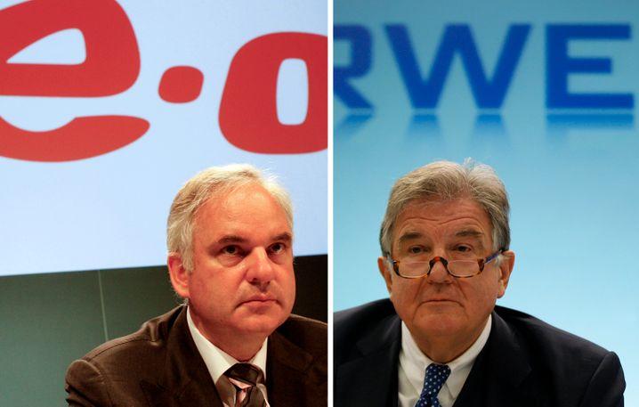 Mann gegen Mann: Eon-Chef Teyssen sitz fest im Sattel, RWE-Chef Großmann macht demnächst Platz für Nachfolger Peter Terium