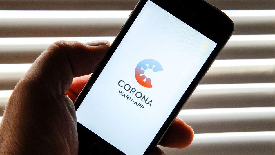 Startbildschirm der deutschen Corona-Warn-App: Künftig ist die notwendige Technik direkt im Betriebssystem enthalten