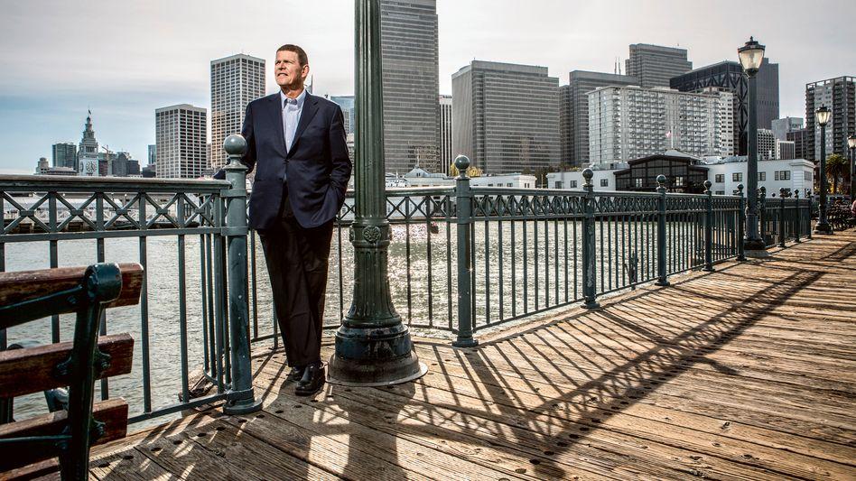 Techstar: Würden Sie diesem Mann eine IT-Aktie abkaufen? Unser Fotograf traf Walter Price auf Pier 7 vor dem Financial District in San Francisco.