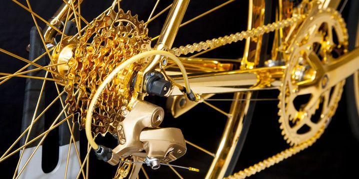 Wer's braucht: Dieses Rad ist komplett hartvergoldet