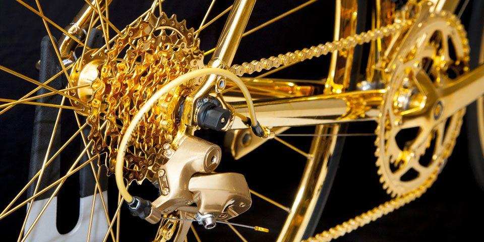 EINMALIGE VERWENDUNG Luxusrad; Hersteller Goldgenie; Gold Racing Bike