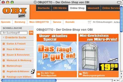 Obi@Otto: Streit um Umsatzforderungen