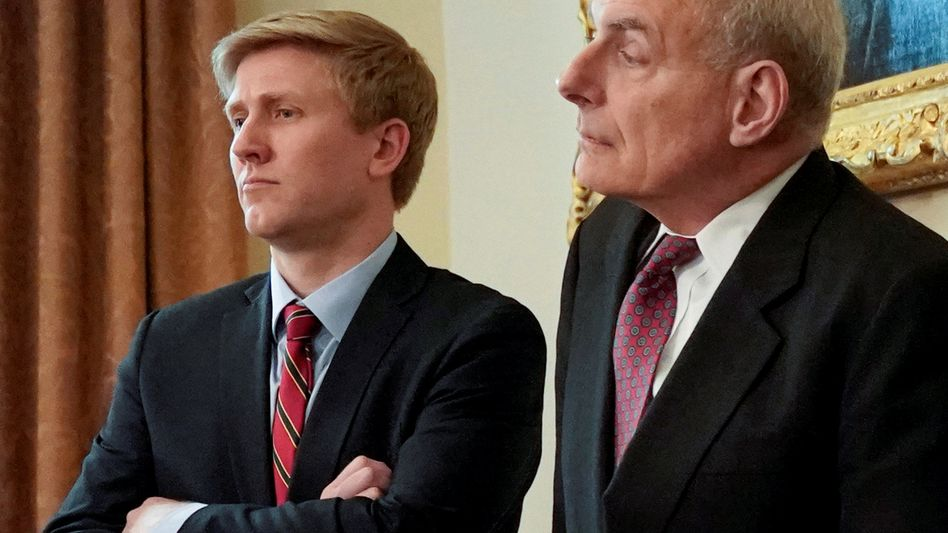 Von Trump geschasster Stabschef John Kelly (rechts), Wunschkandidat Nick Ayers: Absage per Twitter