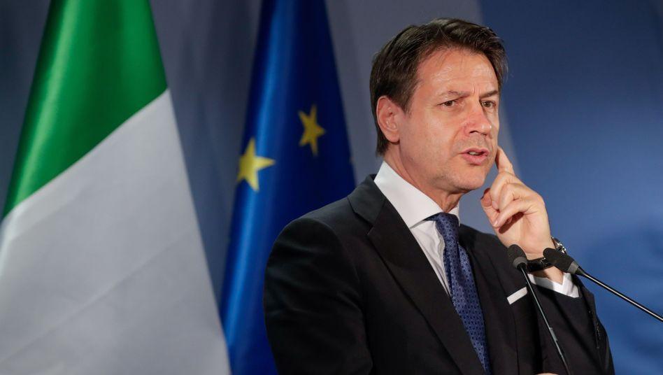 Beharrt auf Corona-Bonds: Italiens Ministerpräsident Giuseppe Conte