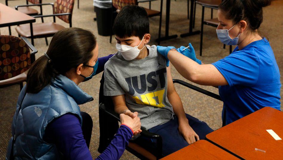 In den USA bereits erlaubt: Die Corona-Impfung von Kindern mit dem Vakzin von Biontech/Pfizer