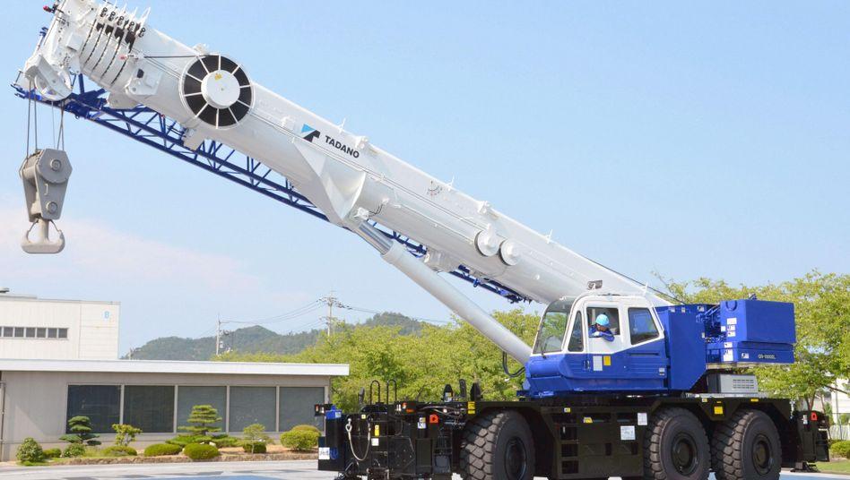 Mobiler Tadano-Kran in Japan: Tadano strebt eine Sanierung in Eigenverwaltung an