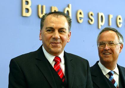 Im Rampenlicht: Axel Weber mit Finanzminister Hans Eichel