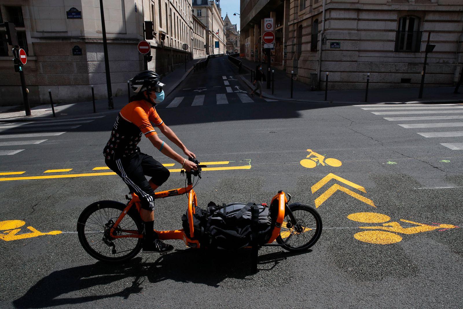 Fahrrad / Lastenrad / Paris / Coronavirus