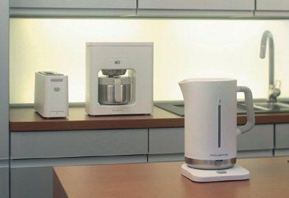 Rowenta M-Edition: Frühstücksset bestehend aus Kaffeemaschine, Toaster und Wasserkocher, Designpreis in Gold