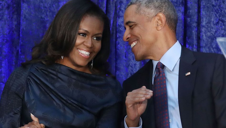 Michelle und Barack Obama Anfang Februar 2018 in Washington