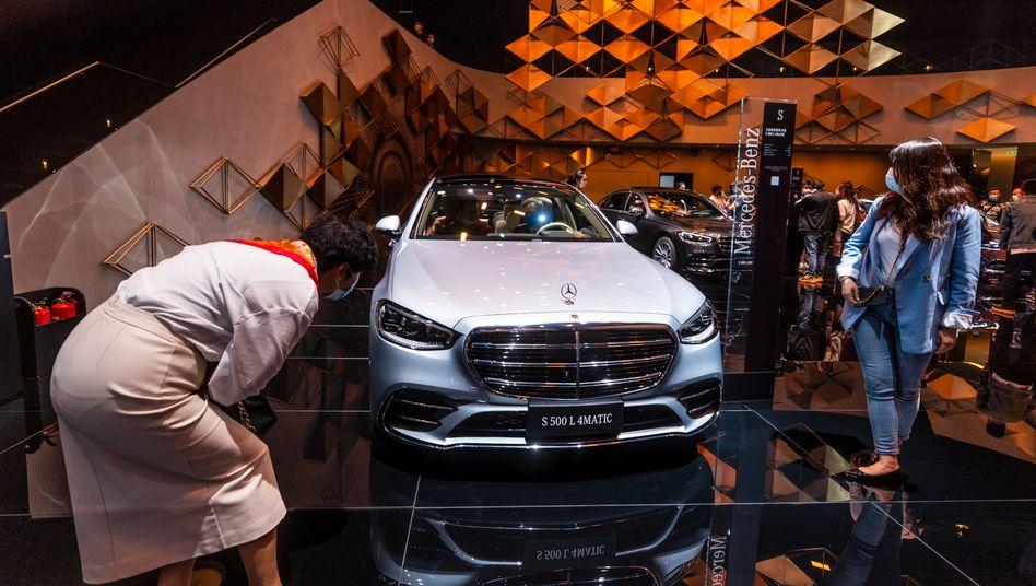 Wieder im Glanz: Stand von Mercedes-Benz auf der Shanghaier Automesse