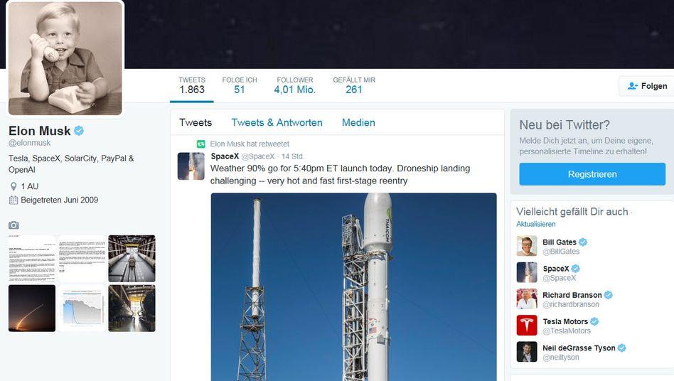 Bild aus vergangenen Zeiten: Elon Musk zufolge wird dieser Twitter-Account, der bereits für viele Schlagzeilen sorgte gelöscht.
