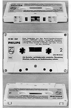 """""""Achtung! Diese Kassette ist löschbar"""": Erste Musikkassette von 1963 mit Titeln aus dem Philips-Mercury-Programm"""