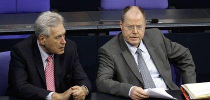 Setzt die Benchmark: Finanzminister Steinbrück hat mit dem Bund den solventesten Schuldner Europas im Rücken