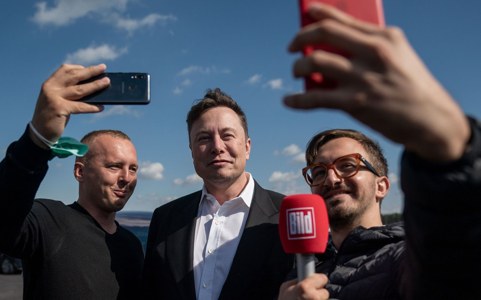 Elon Musk in Germany, Gruenheide - 03 Sep 2020