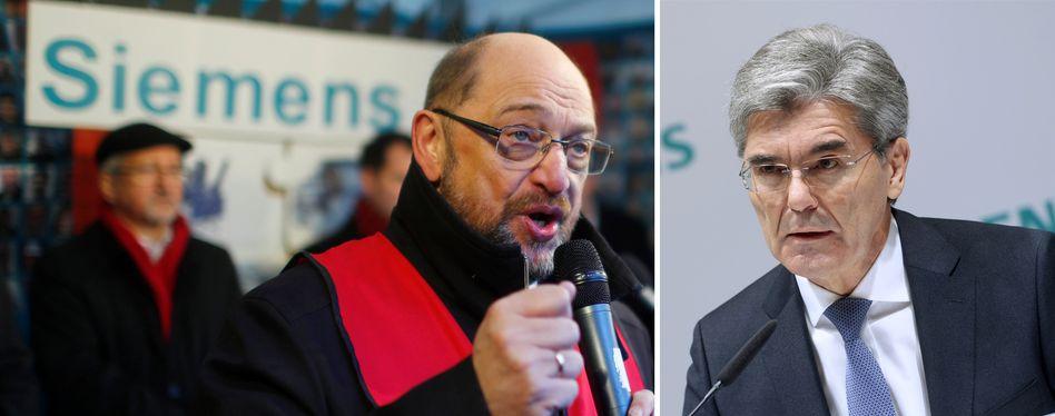 """SPD-Chef Schulz wirft Kaeser verantwortungsloses Handeln vor. Kaeser schreibt zurück: """"Vielleicht sollten Sie sich überlegen, wer wirklich verantwortungslos handelt"""""""