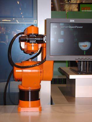 Dynamischer Bildschirm: Roboter von IBM