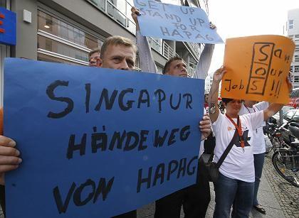 Protest: Hapag-Lloyd-Mitarbeiter wollen nicht an NOL verkauft werden