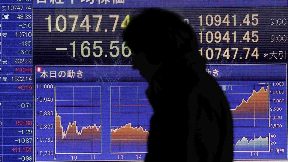 Mehr Risiko: Die Pensionen in Japan sollen nach dem Willen der Regieurng künftig stärker von Aktien abhängen.