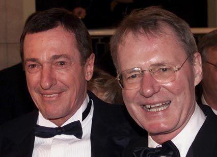 BDI-Präsidenten unter sich: Hans-Olaf Henkel mit Nachfolger Michael Rogowski