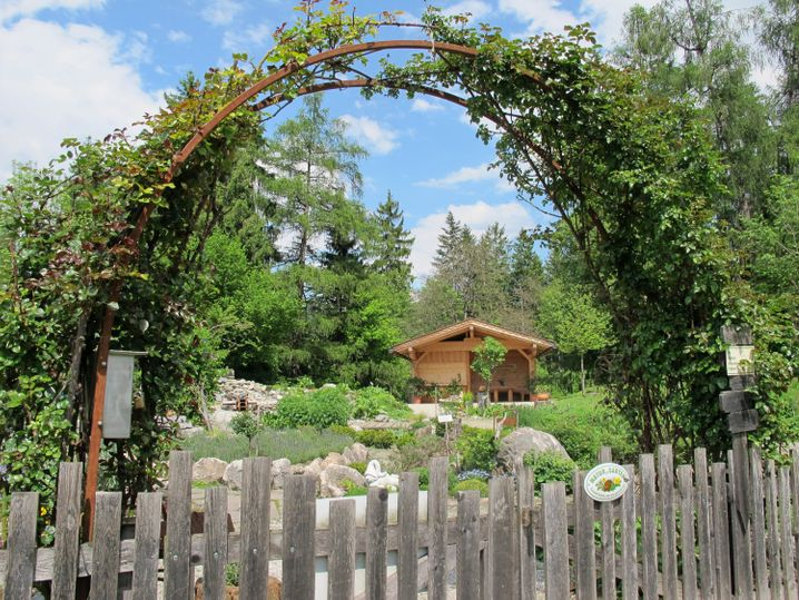 Der Hildegard von Bingen Kräutergarten befindet sich im Ort Reith in Tirol
