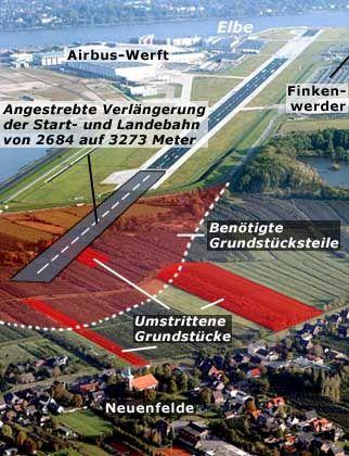 Airbus in Neuenfelde: Luftstandort in Gefahr