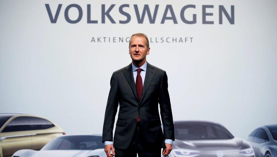Auf Bewährung:Volkswagen-ChefHerbert Diessbraucht neues Vertrauen
