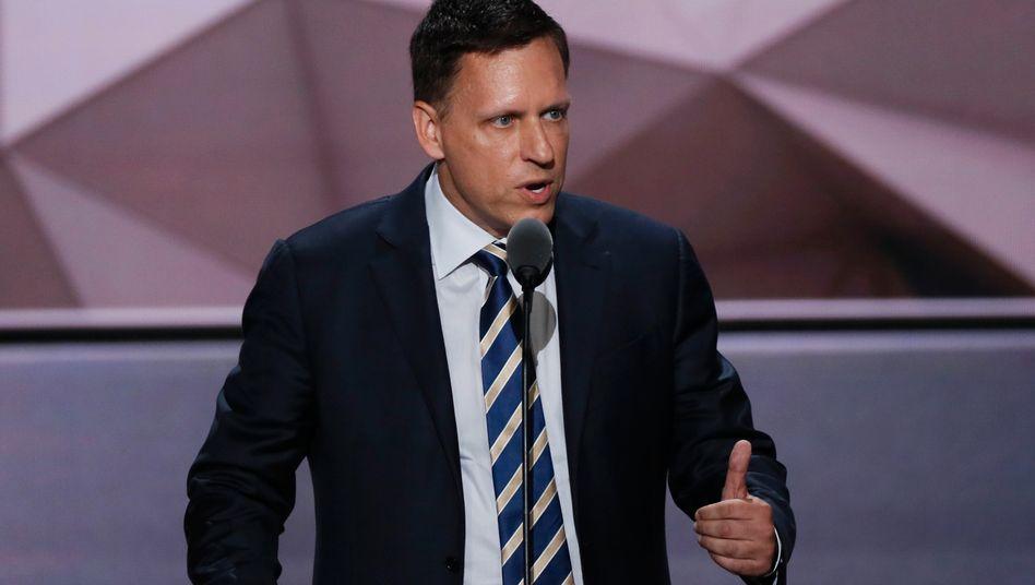 Star-Investor und PayPal-Mitgründer Peter Thiel