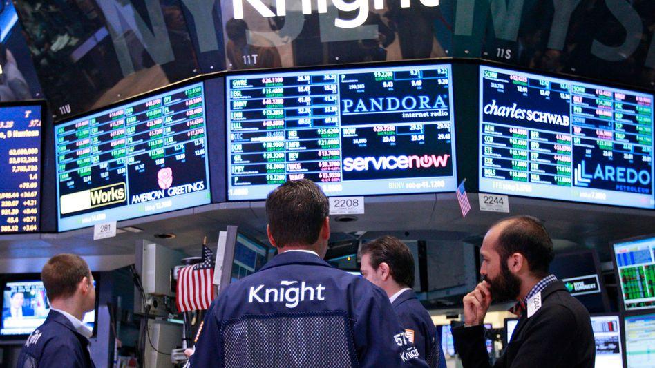 Knight-Capital-Händler an der Wall Street: Die Investmentfirma steht am Rande des Ruins