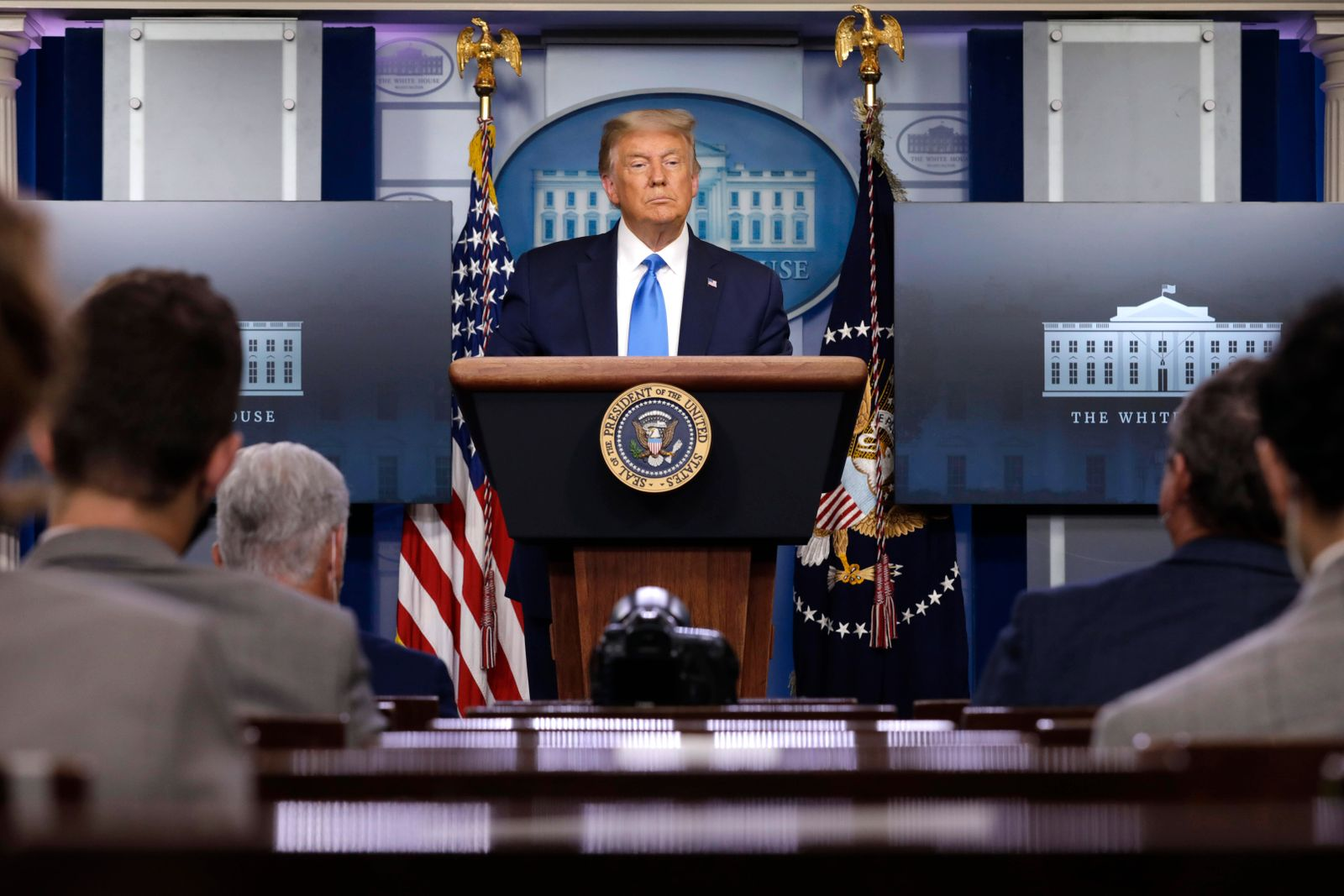 September 23, 2020, Washington, District of Columbia, USA: United States President Donald J. Trump speaks during a news