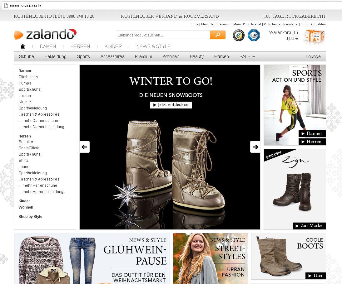 Screenshot / zalando
