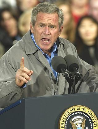 Kämpfer für Sicherheit - aber nicht für solide Finanzen: US-Präsident George W. Bush