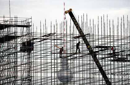 Baustelle in Berlin: Arbeitsmarkt bleibt robust