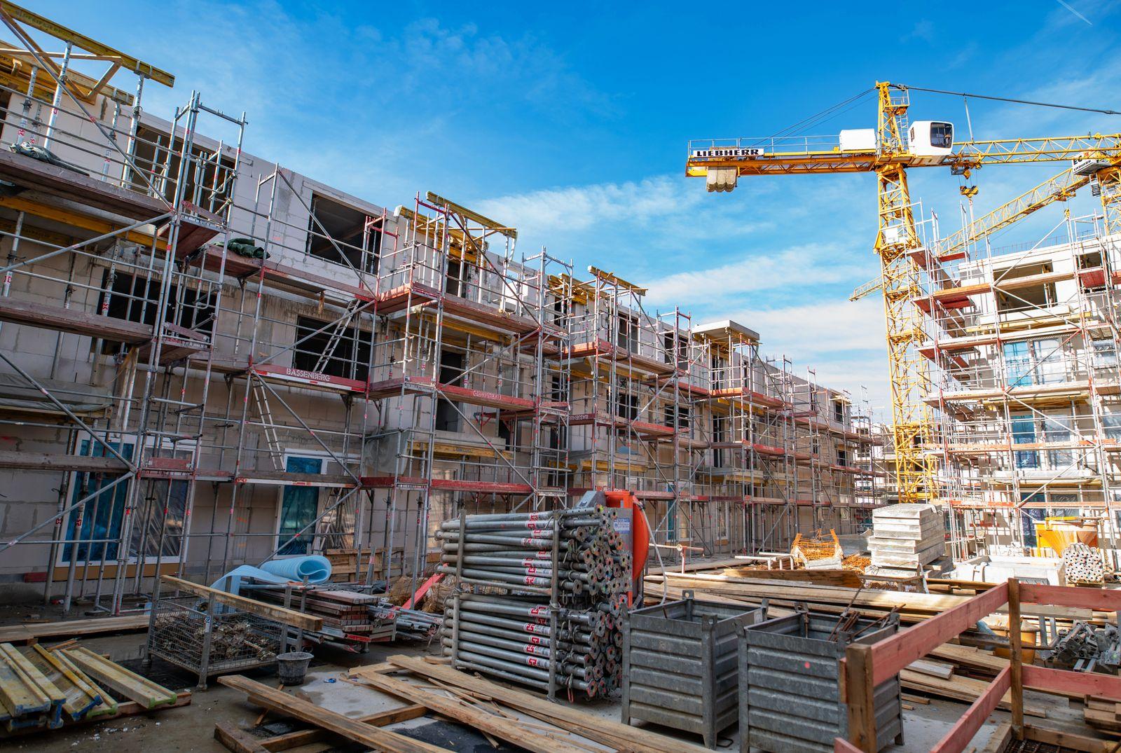 Wohnungsbau / Baustelle / Bauen / Wohnungen / Sozialwohnungen