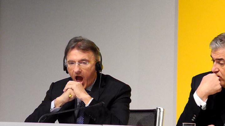 Langeweile? Bilanz-Pressekonferenz der Deutschen Post