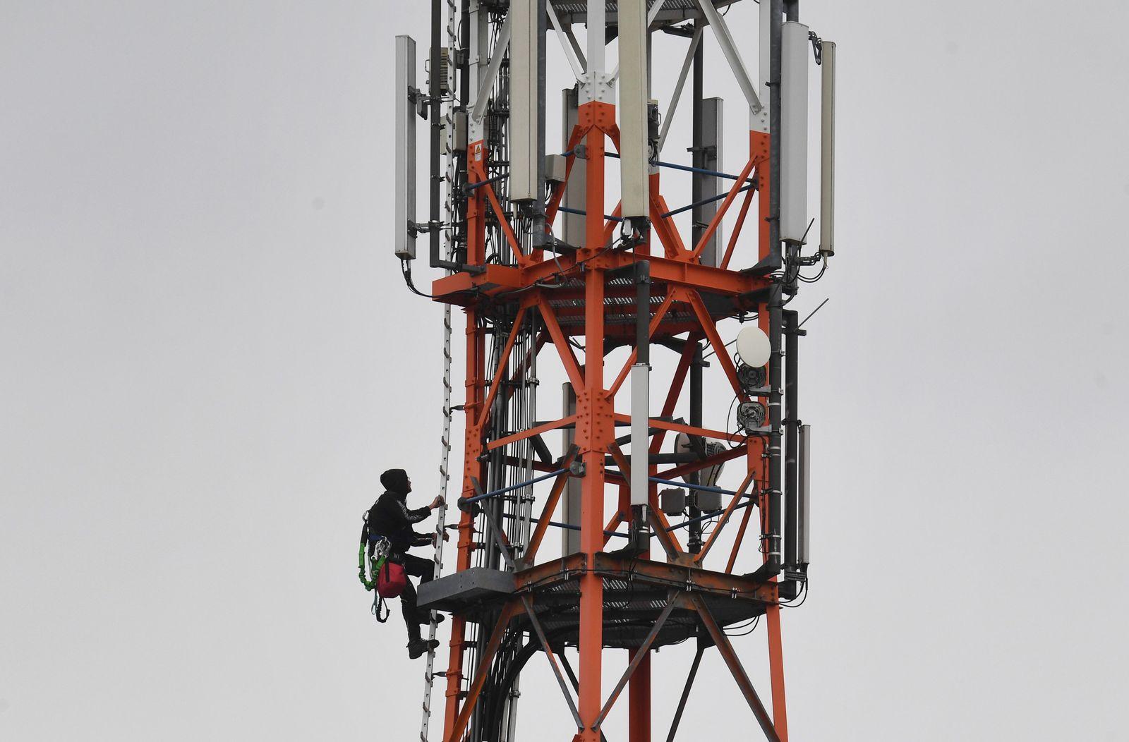 Mobilfunkmast Vodafone 5G