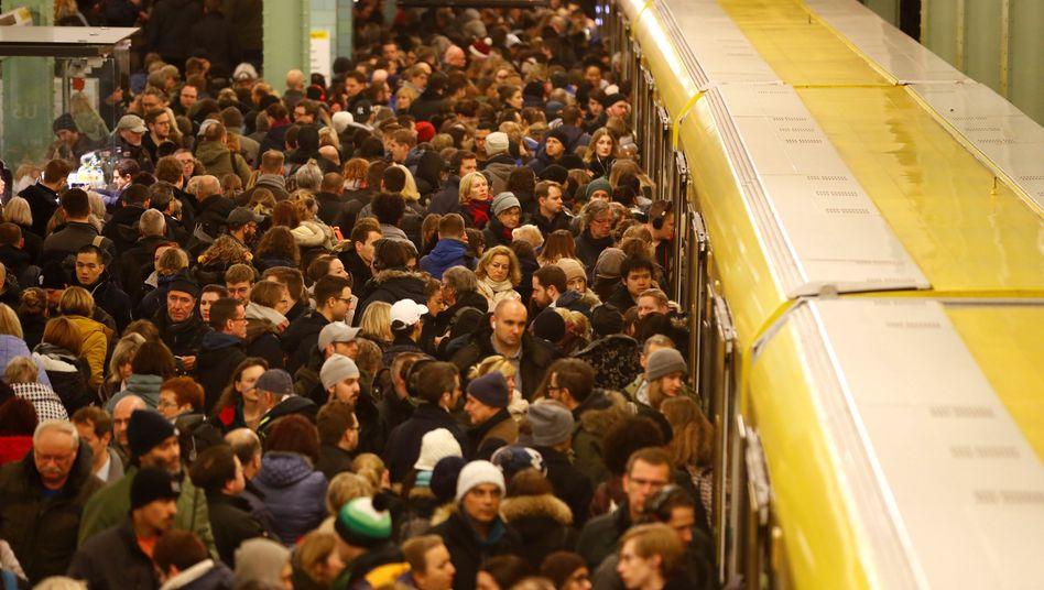 Warnstreik bei der Deutschen Bahn im Dezember, hier in Berlin