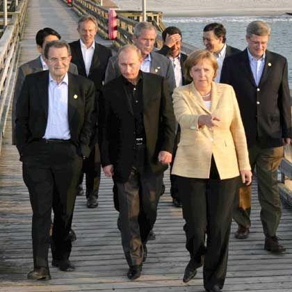 Ohne Krawatten: Die G8-Regierungschefs in entspannter Atmosphäre