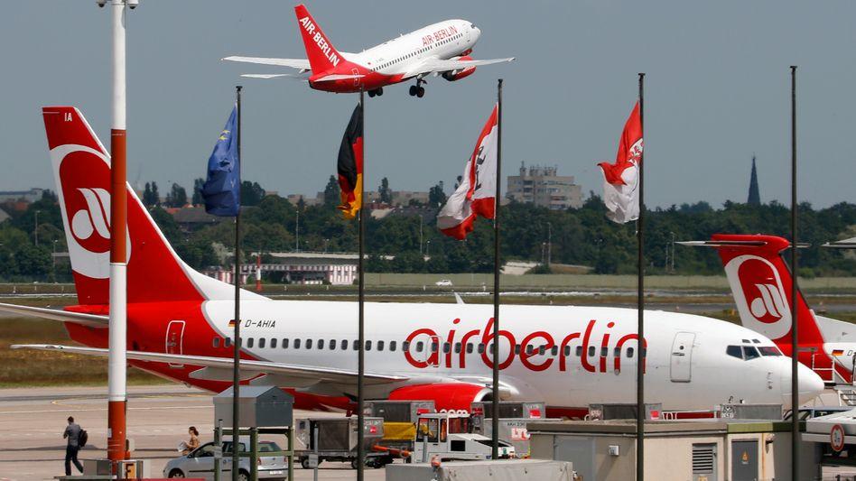 Flugzeuge von Air Berlin am Flughafen Tegel: An die Schrumpfung gewöhnt