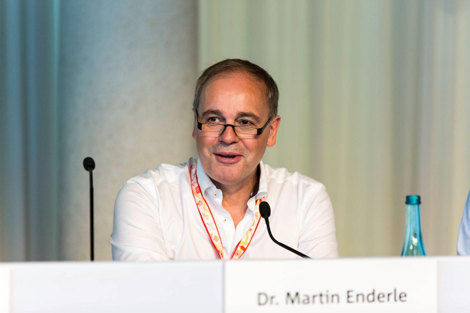 Dr. Martin Enderle (Aufsichtsratsvorsitzende) bei der Delivery Hero AG Hauptversammlung am 06.06.2018 in Berlin im Cafe