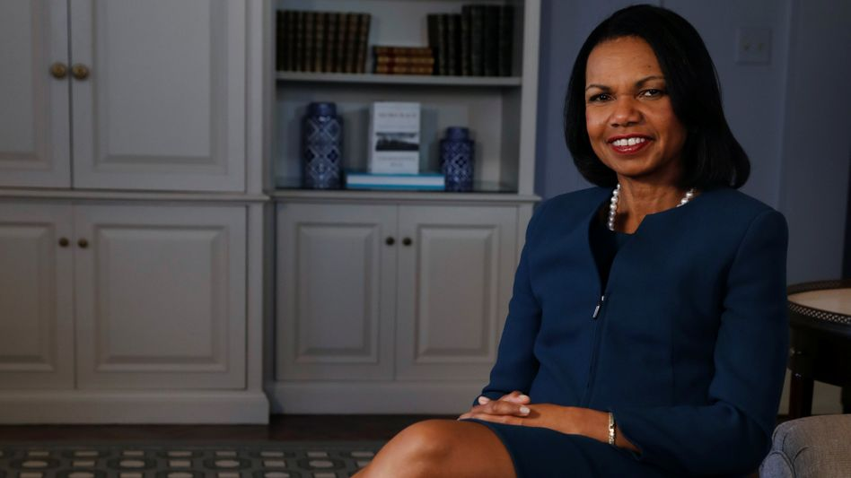 Condoleeza Rice war Sicherheitsberaterin von PräsidentBush und später US-Außenministerin. Sie genießt weltweit großes Ansehen als Risikoexpertin. Heute ist sie Professorin in Stanford.