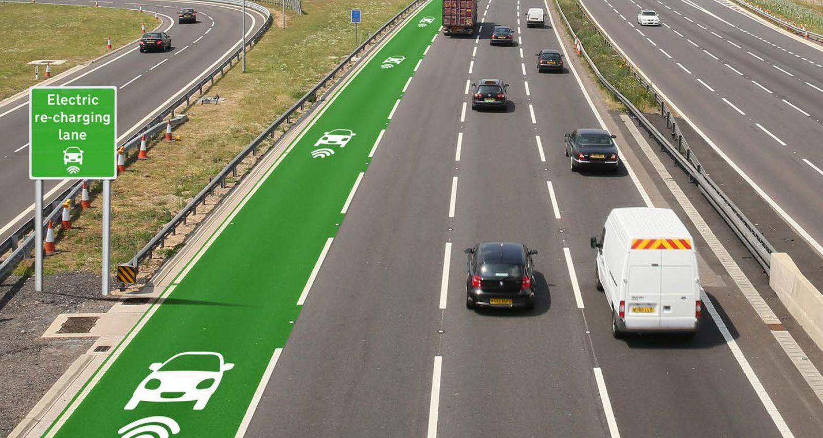 Electric recharging lane